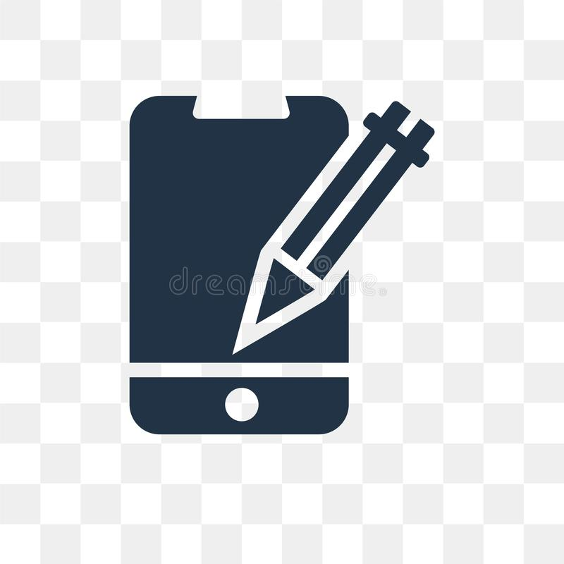 Redigieren Sie die Werkzeugvektorikone, die auf transparentem Hintergrund lokalisiert wird, redigieren Sie t lizenzfreie abbildung