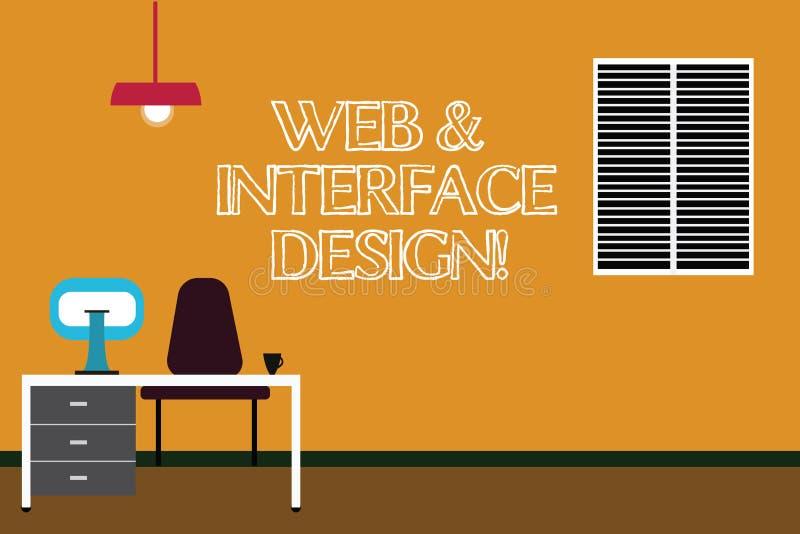 Redigindo a Web da exibição da nota e o projeto de relação Tornar-se em linha apresentando dos locais dos desenhistas do Web site ilustração royalty free