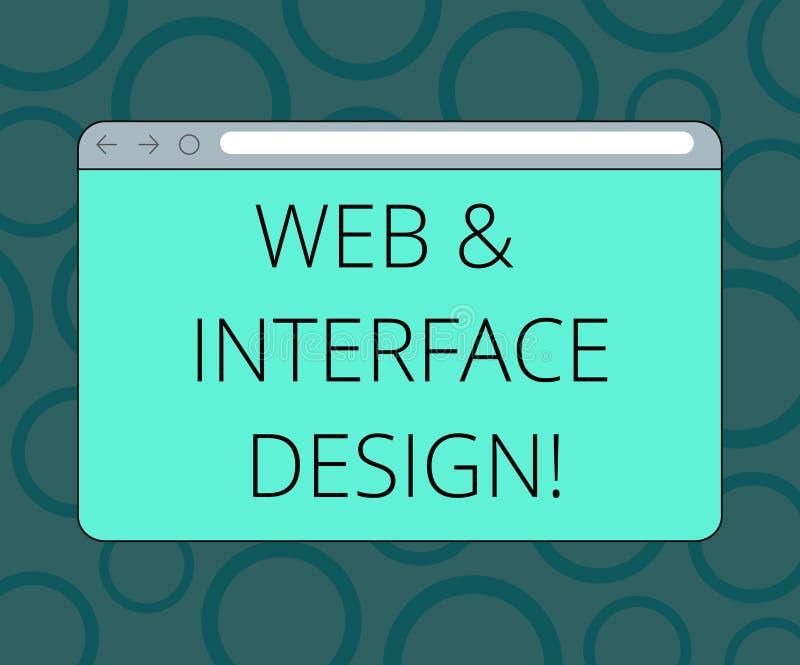 Redigindo a Web da exibição da nota e o projeto de relação Tornar-se em linha apresentando dos locais dos desenhistas do Web site ilustração stock