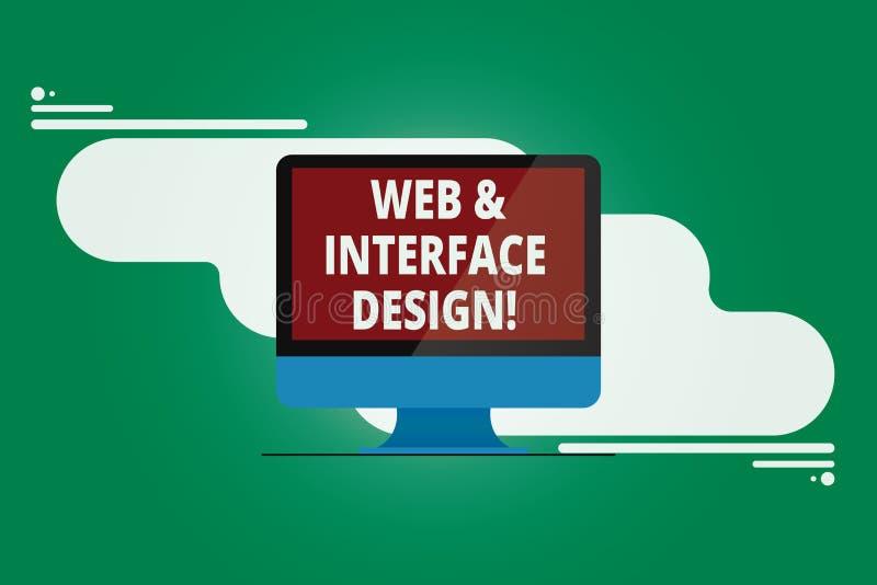 Redigindo a Web da exibição da nota e o projeto de relação Tornar-se em linha apresentando dos locais dos desenhistas do Web site ilustração do vetor