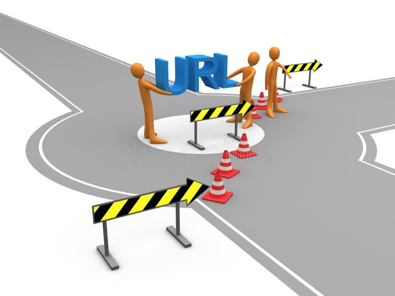 redirectionwebsite vektor illustrationer