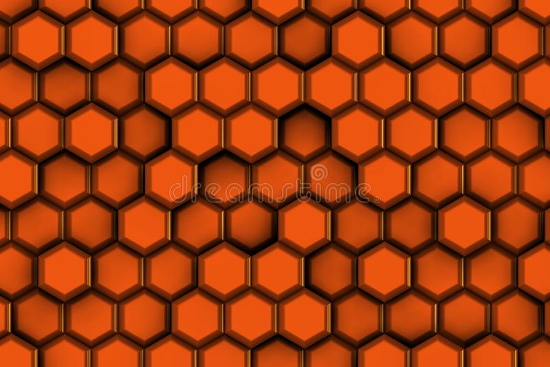 Redish hexagons for hot concept royalty free stock photos
