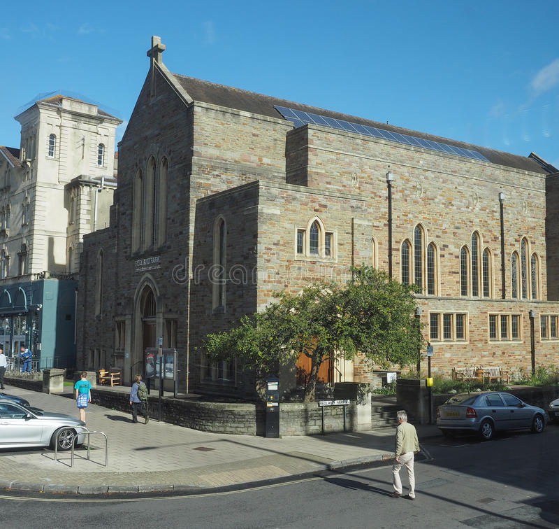 Redland parkerar den eniga omdanade kyrkan i Bristol arkivbilder