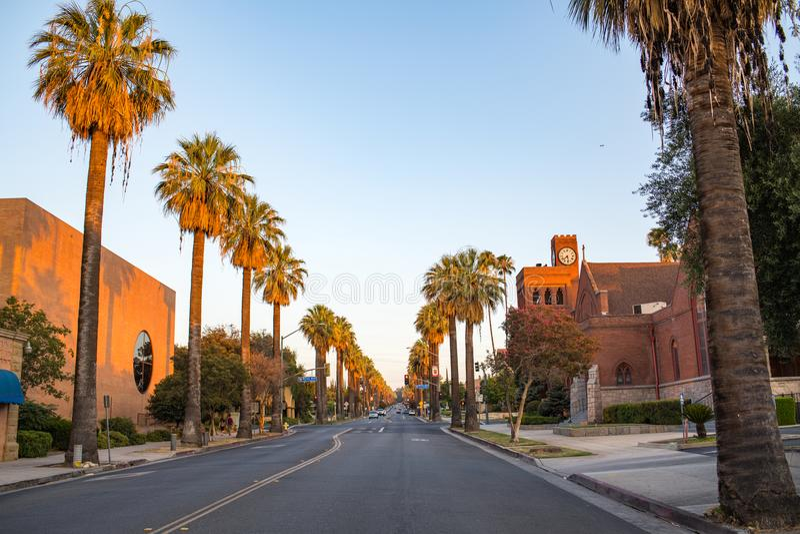 Redlands céntrico en San Bernardino imágenes de archivo libres de regalías