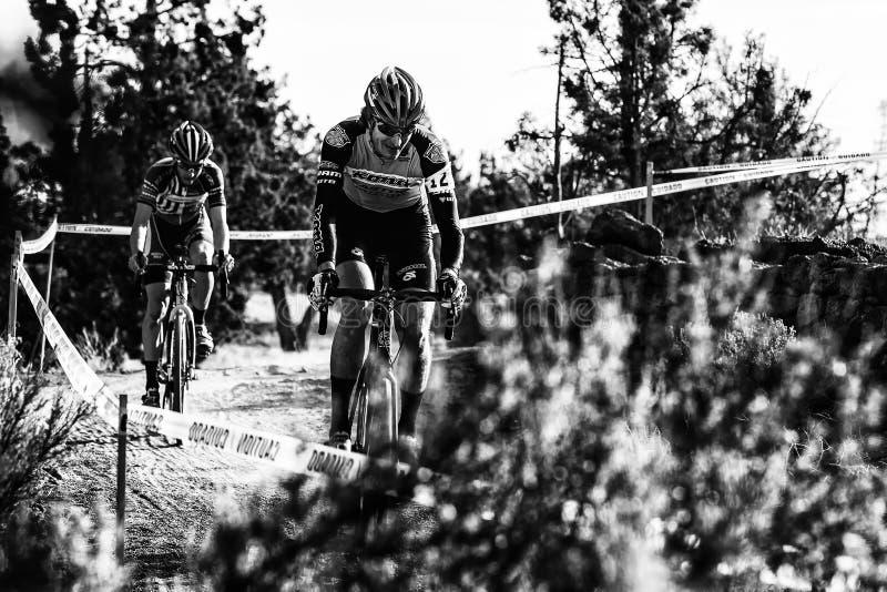 Redmond Golf Cross Cyclo-Cross Race - Barry Wicks stockbild