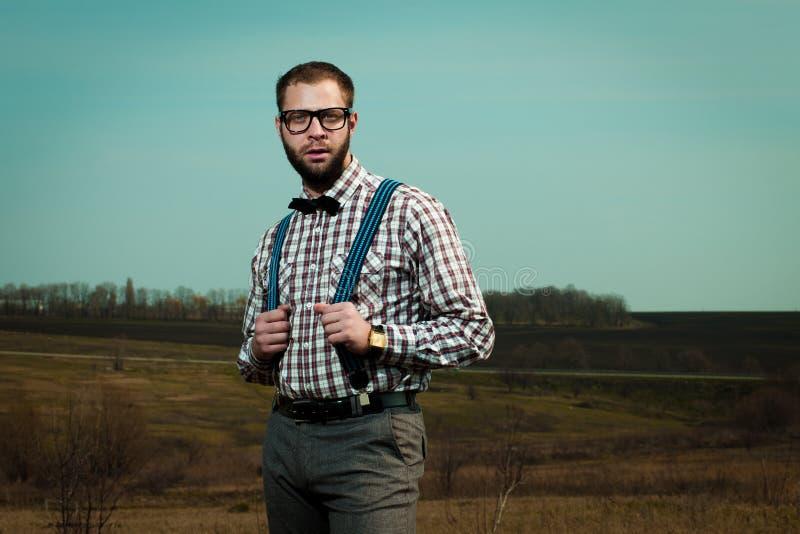 Redneck nerd man stock photography