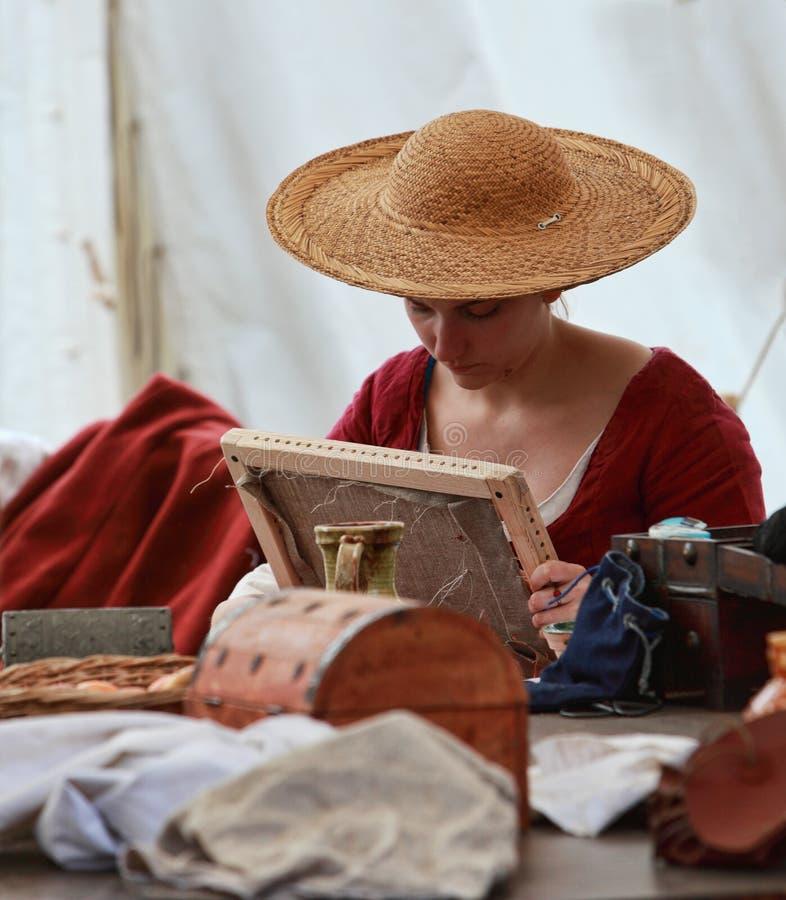 Download Średniowieczna dama zdjęcie editorial. Obraz złożonej z roczniki - 30938836