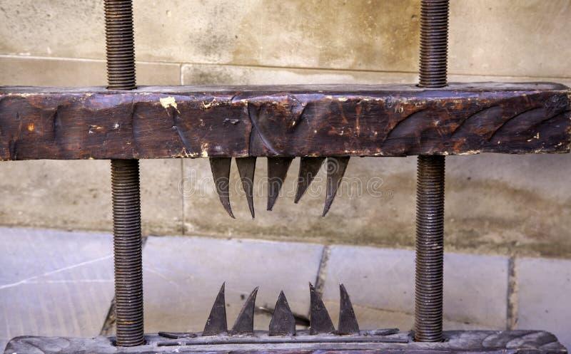 ?redniowieczny instrument tortura obrazy royalty free