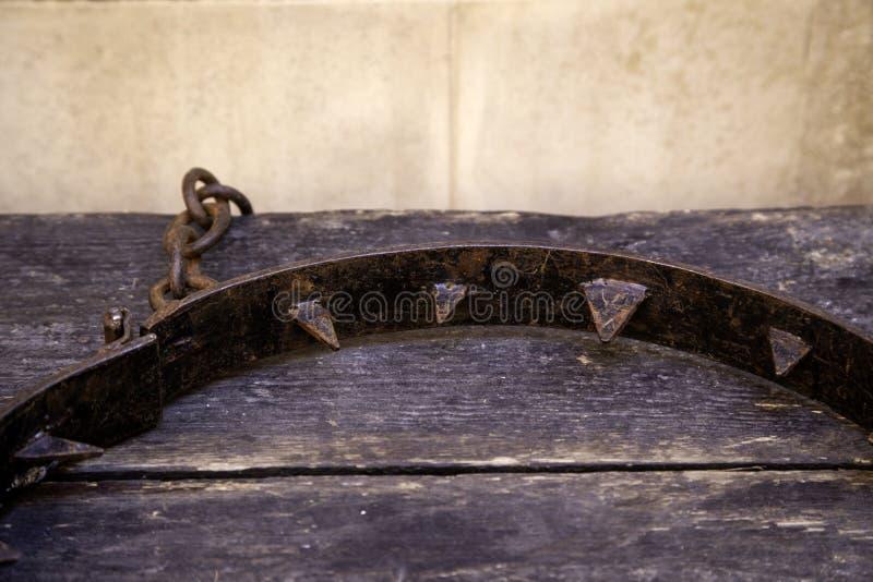 ?redniowieczny instrument tortura fotografia royalty free