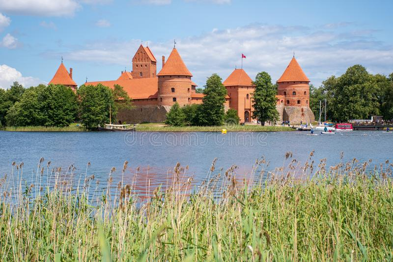 ?redniowieczny kasztel Trakai, Vilnius, Lithuania zdjęcia stock