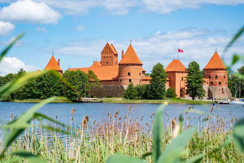 ?redniowieczny kasztel Trakai, Vilnius, Lithuania fotografia royalty free