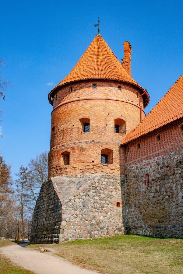?redniowieczny kasztel Trakai obraz royalty free