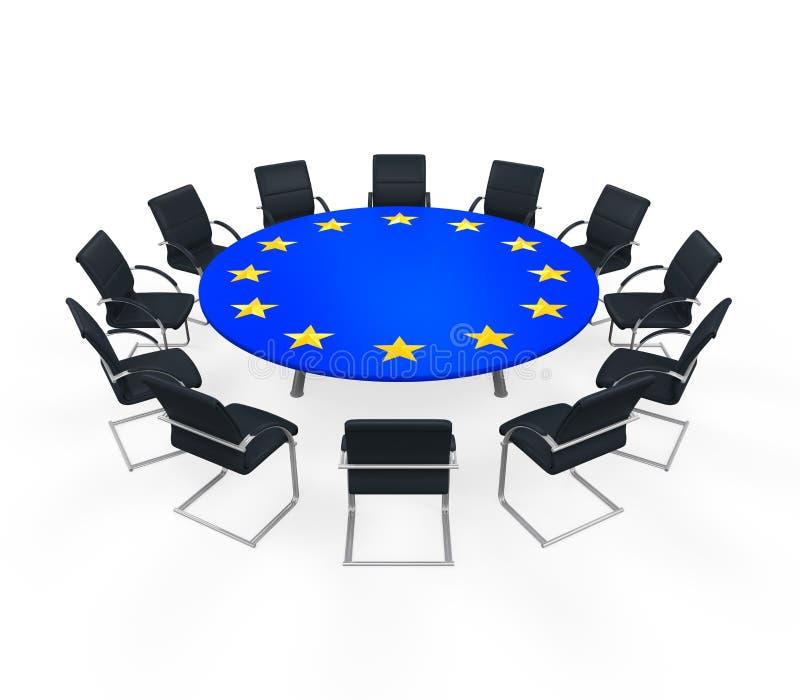 Redonda reunião da União Europeia fotos de stock royalty free