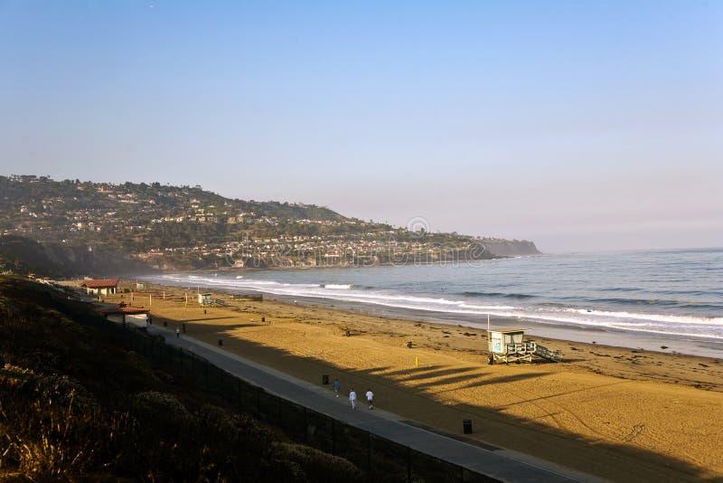 redondo утра пляжа красивейшее светлое стоковая фотография rf