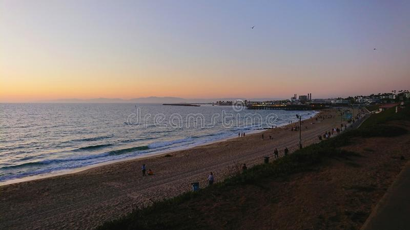 Redondo Beach Coastline California USA sunset stock images