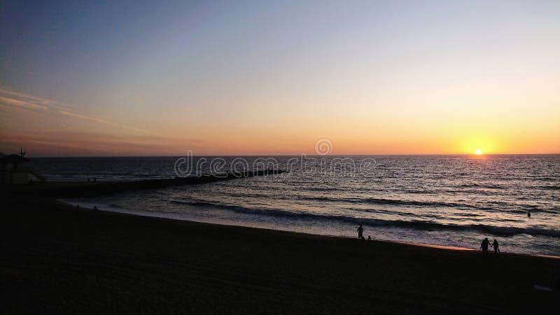 Redondo Beach Coastline sunset California USA royalty free stock photo