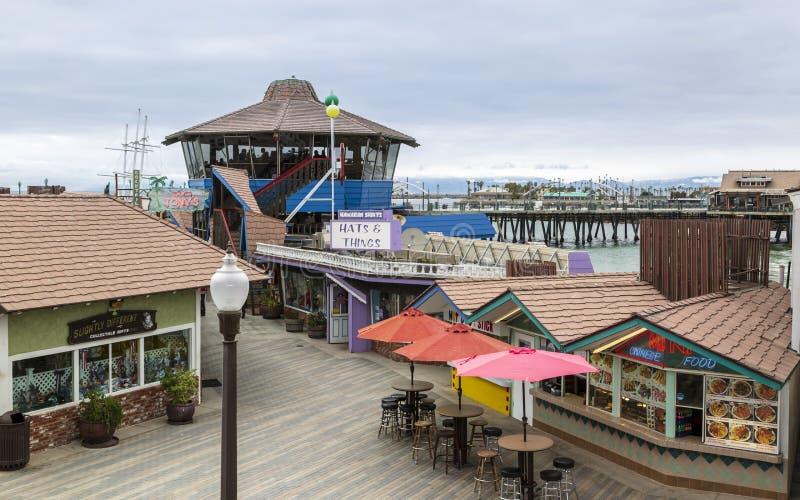 Redondo Desantowy molo, Redondo plaża, Kalifornia, Stany Zjednoczone Ameryka, Północna Ameryka fotografia stock