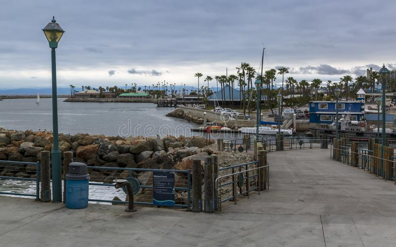Redondo landning, Redondo Beach, Kalifornien, Amerikas förenta stater, Nordamerika arkivfoto