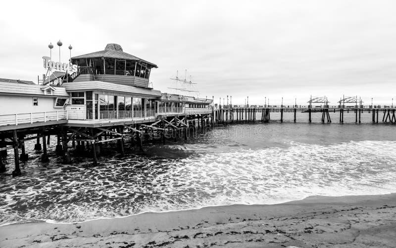 Redondo landningpir, Redondo Beach, Kalifornien, Amerikas förenta stater, Nordamerika royaltyfri bild