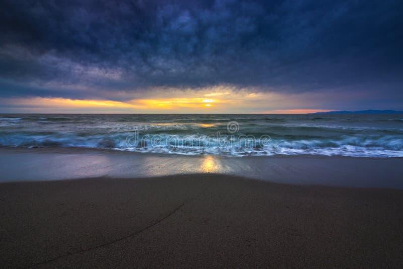 Redondo plaży zmierzch zdjęcie stock