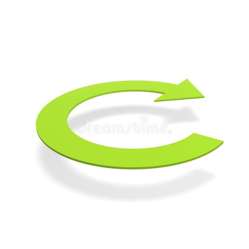 Redondo recicle la insignia de la flecha ilustración del vector