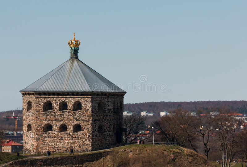 The redoubt Skansen Kronan in Gothenburg, Sweden. Built in the later half of the 17th century. Photo taken 2015-04-03 royalty free stock images