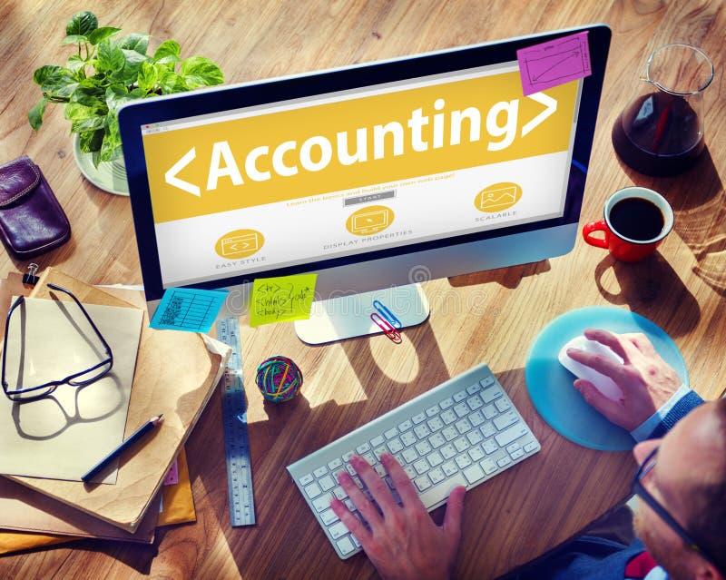 Redovisa budgetera det finansiell rådgivningAnanlysing begreppet arkivbilder