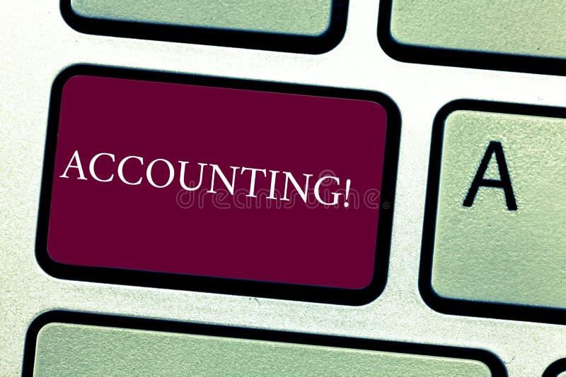 Redovisning för ordhandstiltext Affärsidé för inre stämma för konto att motivera sig avsikt för tangentbordtangent till arkivbilder