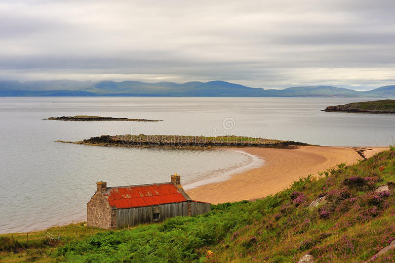 Redpoint salmon fishing station, Scotland. Up on the west coast of the Scottish highlands, opposite the isle of Skye, is this long redundant salmon fishing stock photos