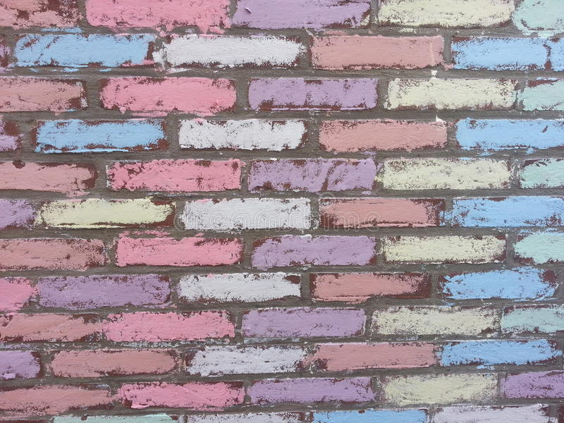 Redstone Brick wall stock photography