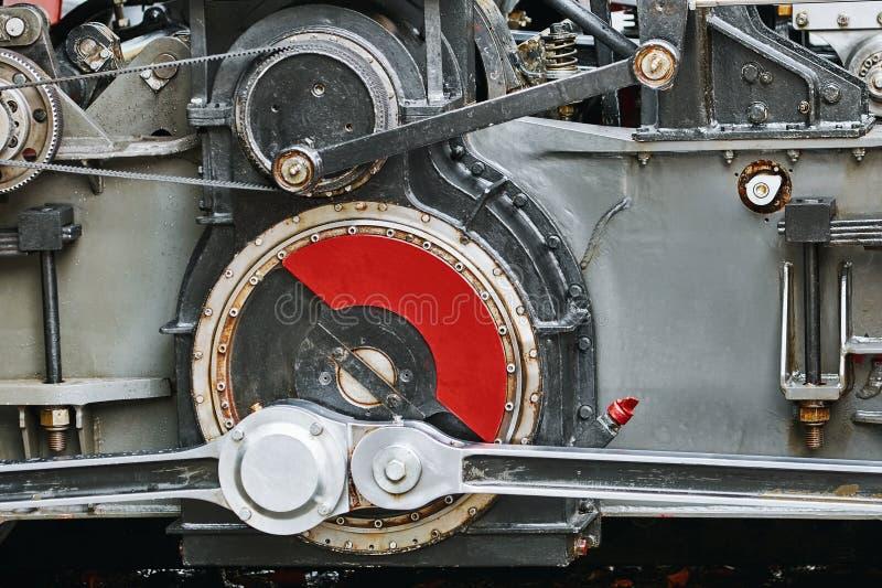 Redução que alinha a peça da locomotiva fotografia de stock royalty free