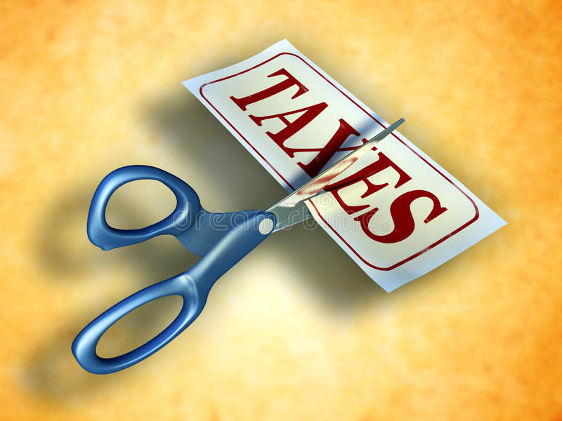 Reducción de impuestos stock de ilustración