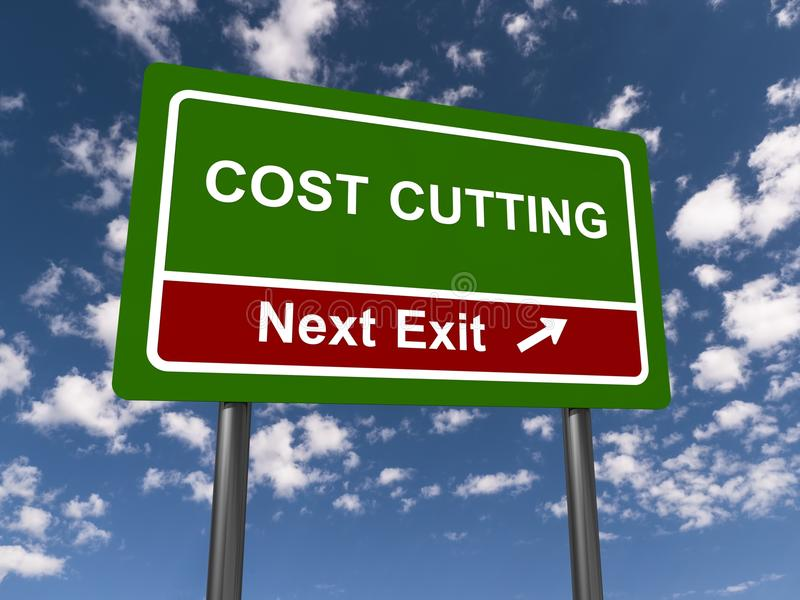 Reducción de los costes ilustración del vector