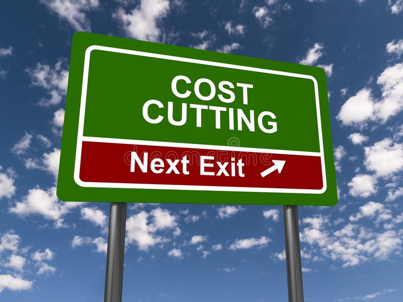 Reducción de los costes, salida siguiente fotos de archivo