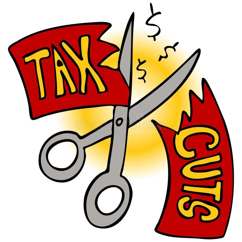 Reducciones de impuestos ilustración del vector