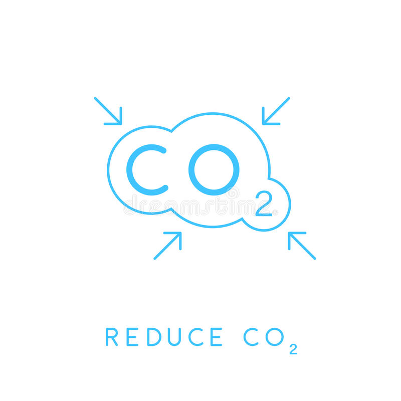 Reduce Carbon Co2 Emissions Concept Icon With Cloud Stock Vector