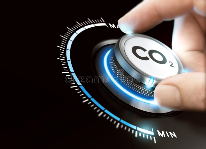 Reduce Carbon Dioxyde Footprint. CO2 Removal royalty free illustration