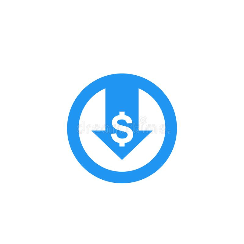 Reduce costs, vector icon stock illustration