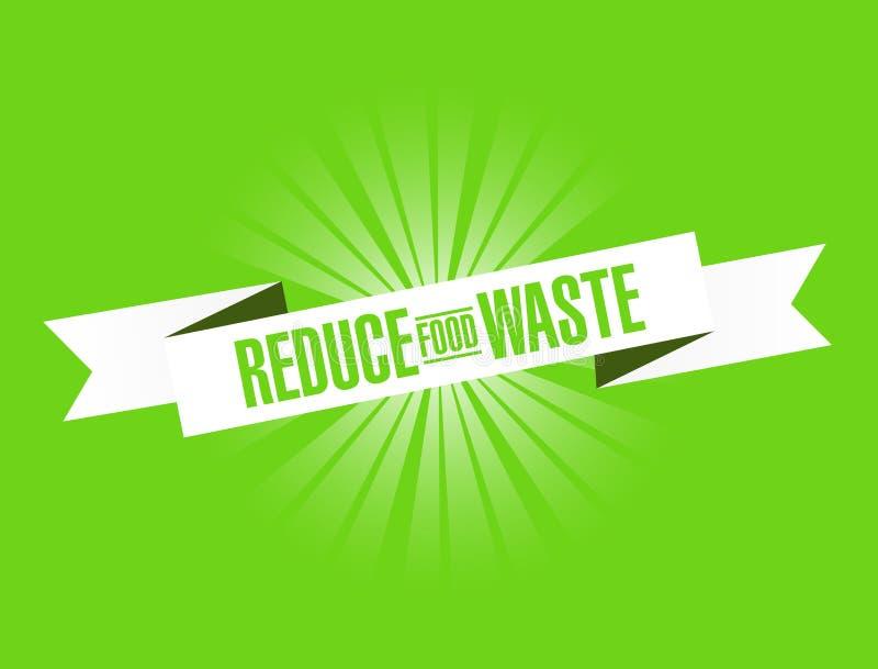 Reduce Food Waste bright ribbon message stock illustration
