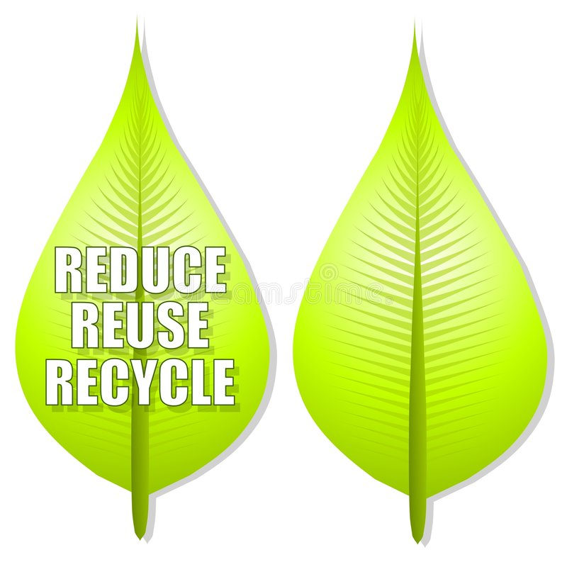 Download Reduce Reuse Recycle Leaf Logo Stock Photo - Image: 4750230