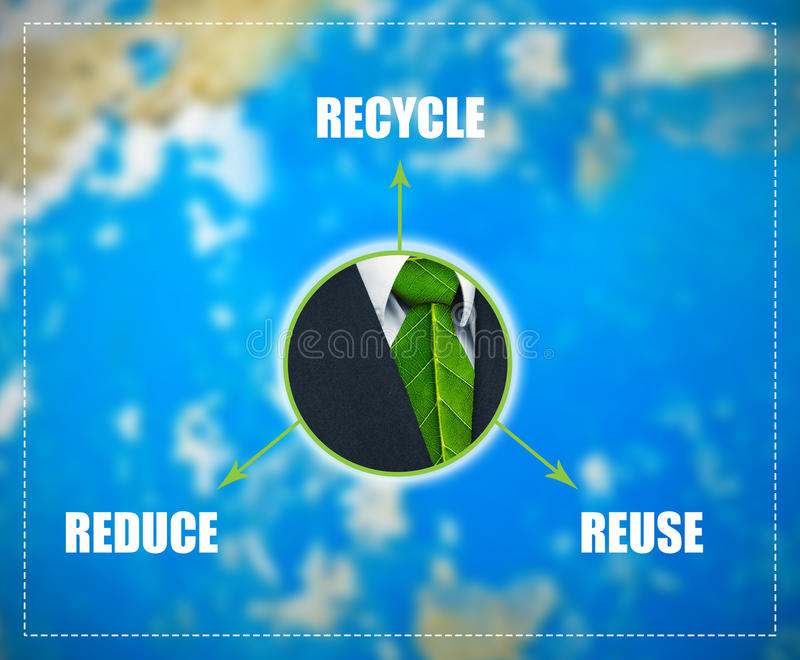 Reduce-Reuse-Recycle scheme royalty free stock images