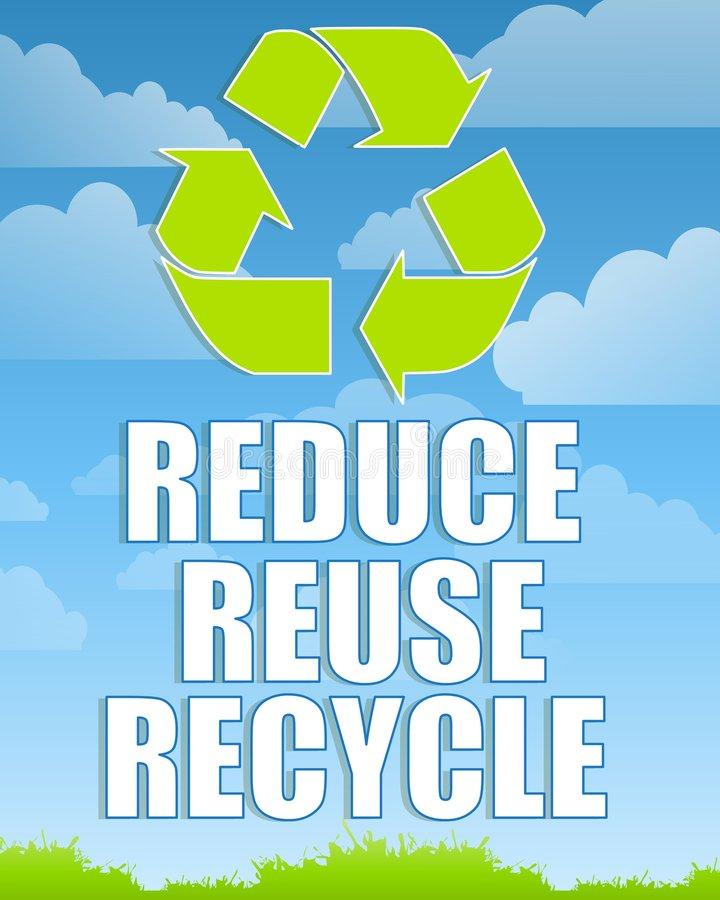 Download Reduce Reuse Recycle Sign 2 Stock Illustration - Image: 5290448