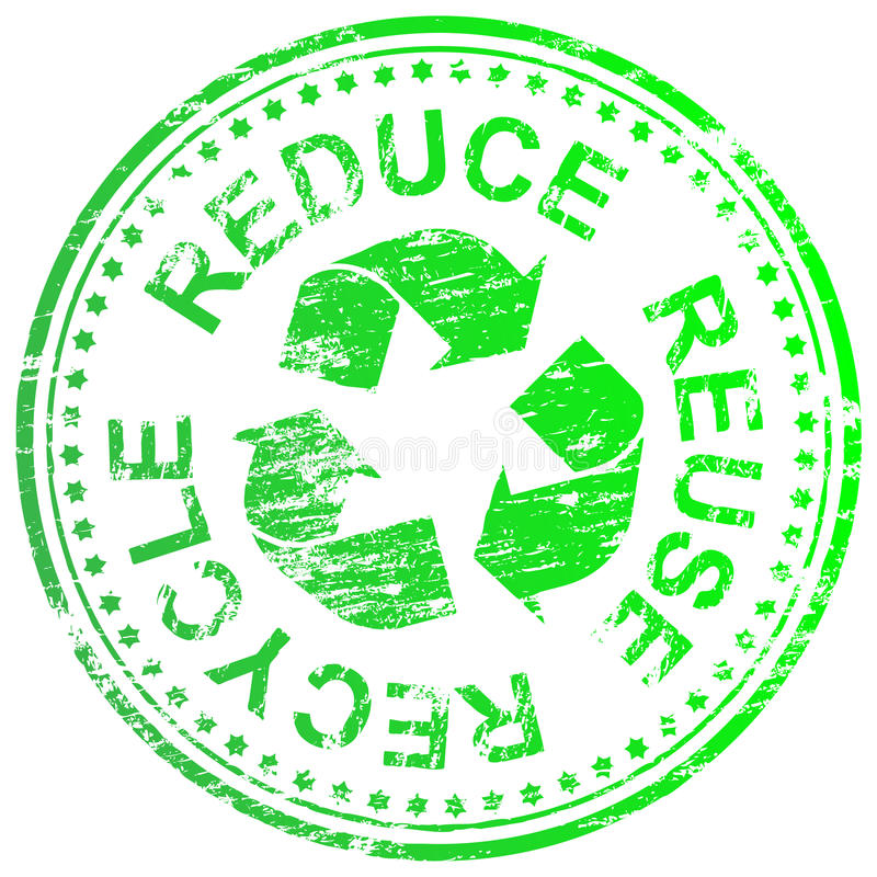 Reduce Reuse Recycle Stamp vector illustration