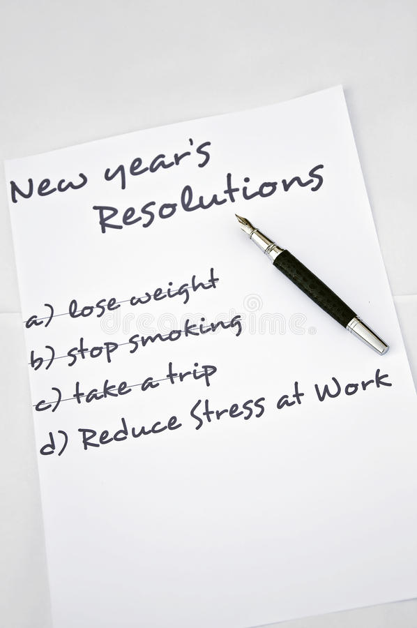 Reduce stress at work. New year resolution reduce stress at work stock photography