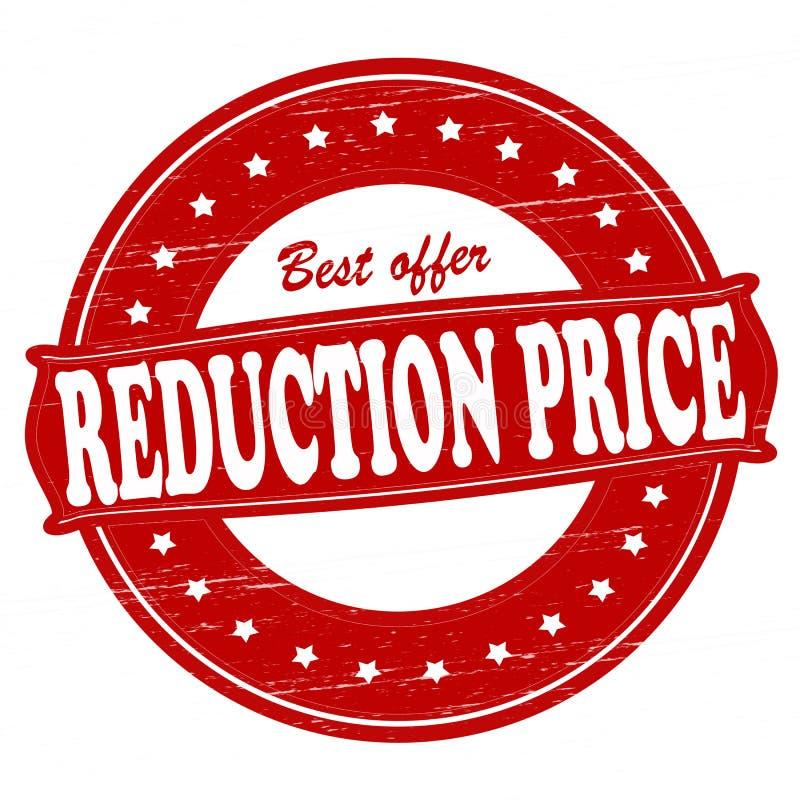 Redukcyjna cena royalty ilustracja