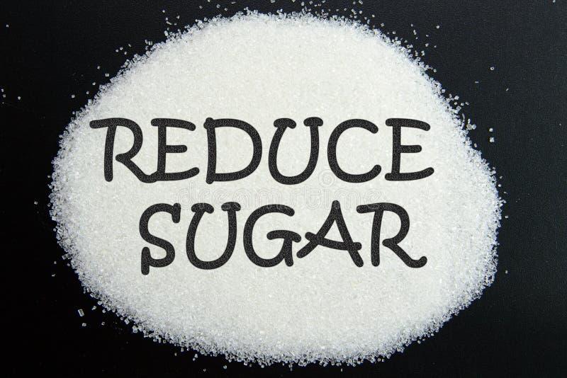 Reduza o açúcar imagens de stock royalty free