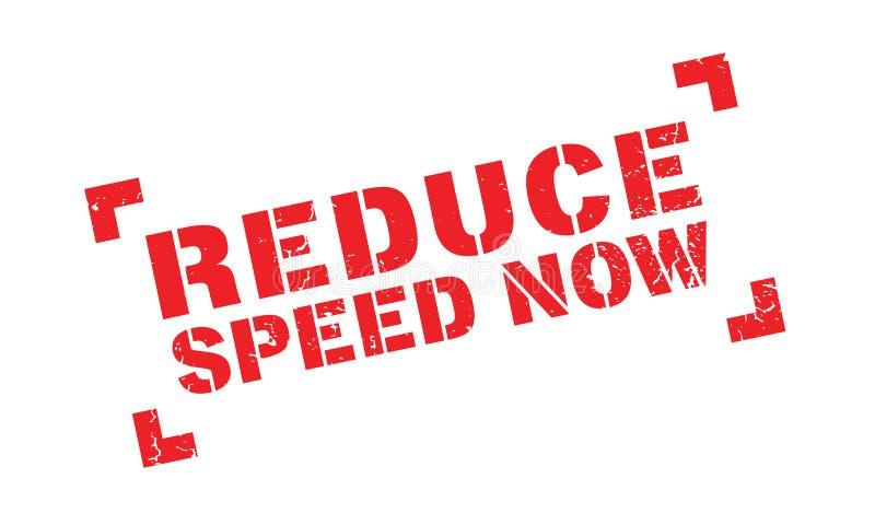 Reduza o carimbo de borracha da velocidade agora ilustração stock