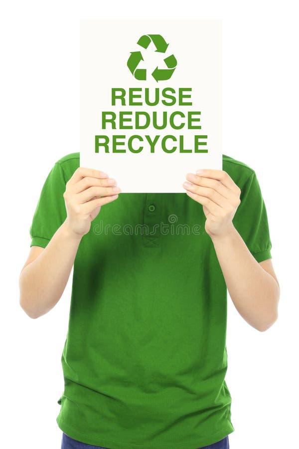 Reduza, reúso, e recicl imagem de stock