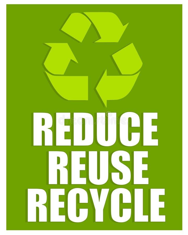 Reduza reusar recicl o sinal ilustração do vetor
