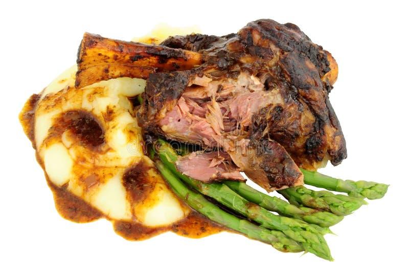 Reduzca la comida cocinada de la caña del cordero fotografía de archivo